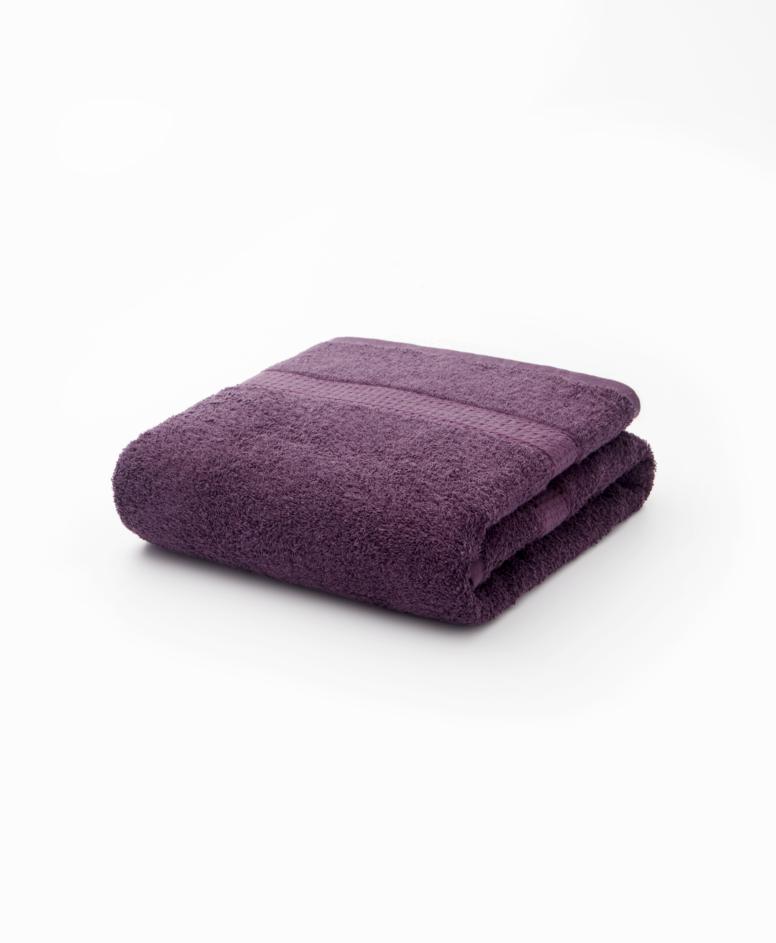 Fioletowy ręcznik łazienkowy bawełniany