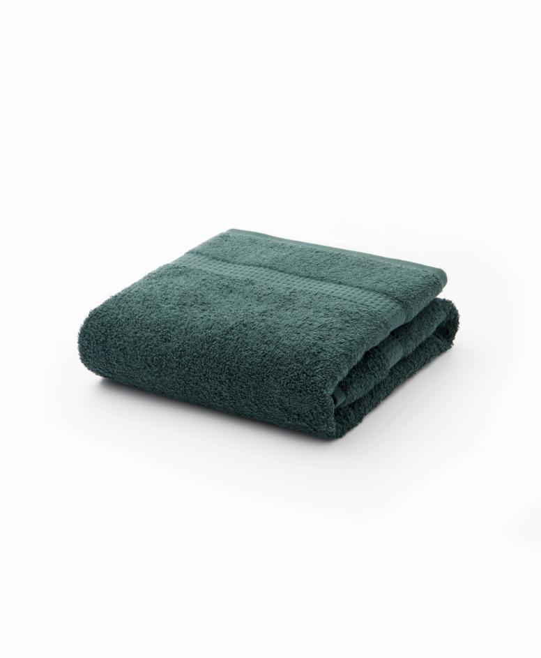 Zielony ręcznik łazienkowy bawełniany