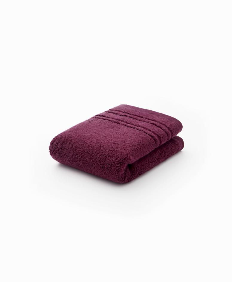 Bordowy ręcznik łazienkowy bawełniany