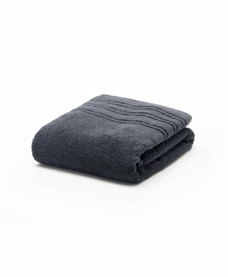 Czarny ręcznik łazienkowy bawełniany
