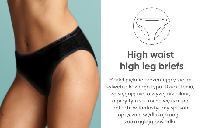 majtki typu High waist high leg briefs