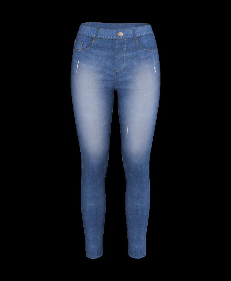 Spodnie damskie, niebieskie, 36-44