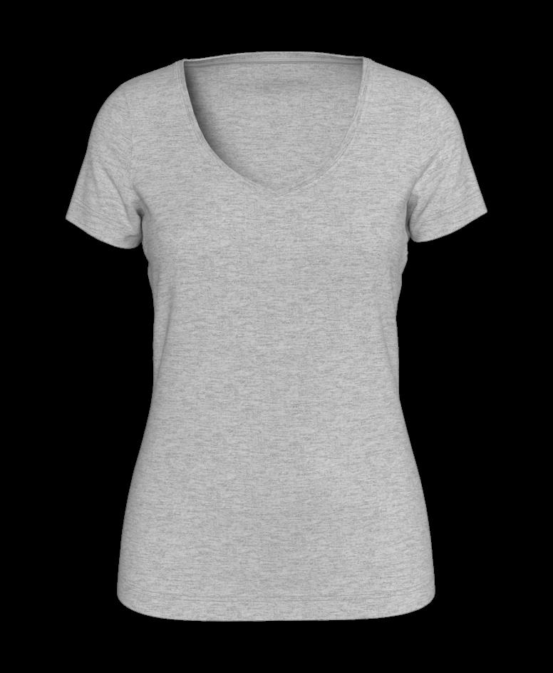 Koszulka damska, szary melanż, S-XXL