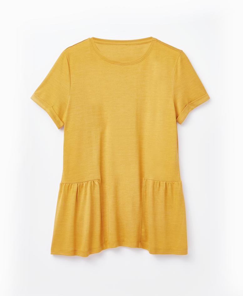Koszulka damska, żółta, S-XXL