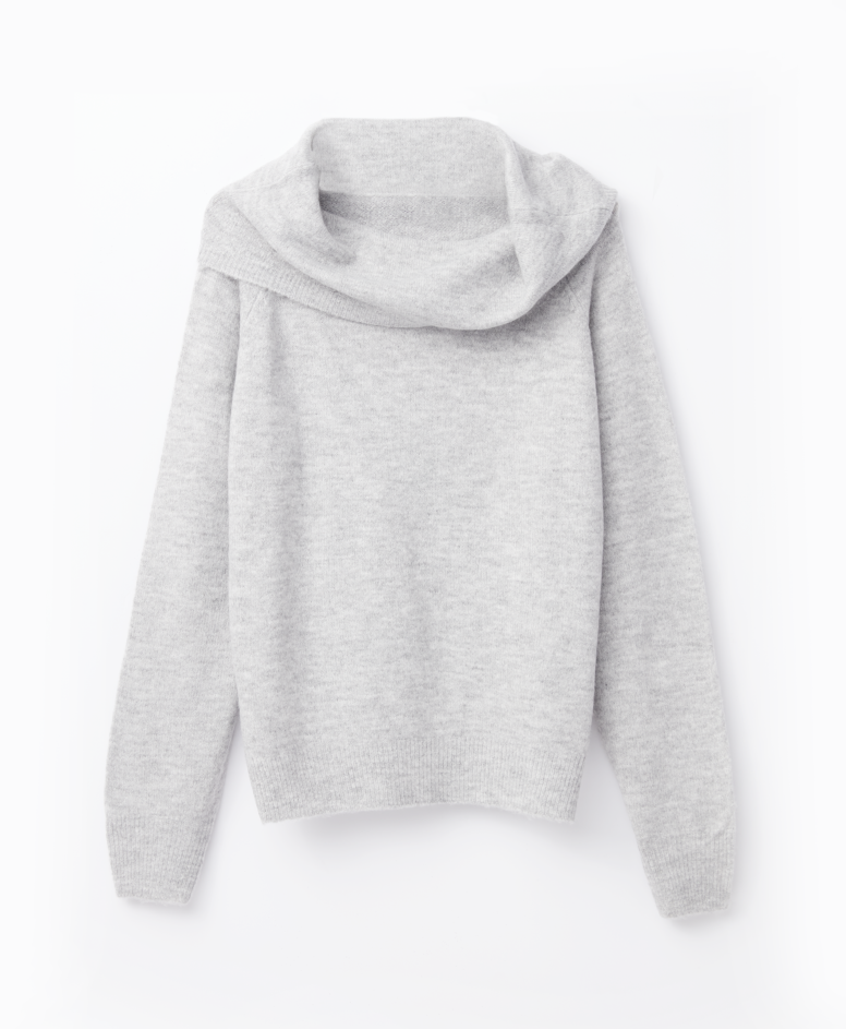 Sweter damski, szary melanż, S-XXL