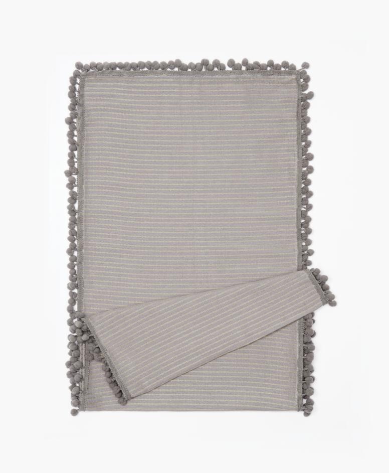 Bieżnik na stół 100% bawełny, szary, wymiary: 35 x 180 cm