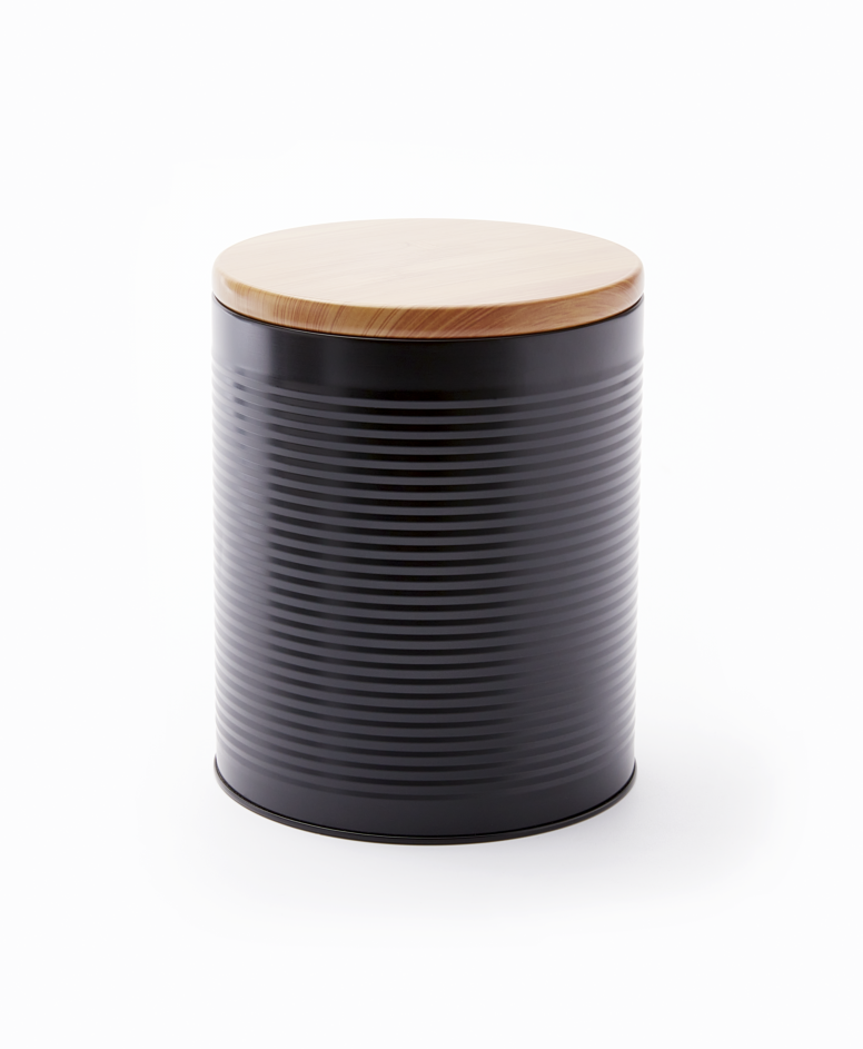Puszka, czarna, ø 11 cm, wys. 15 cm