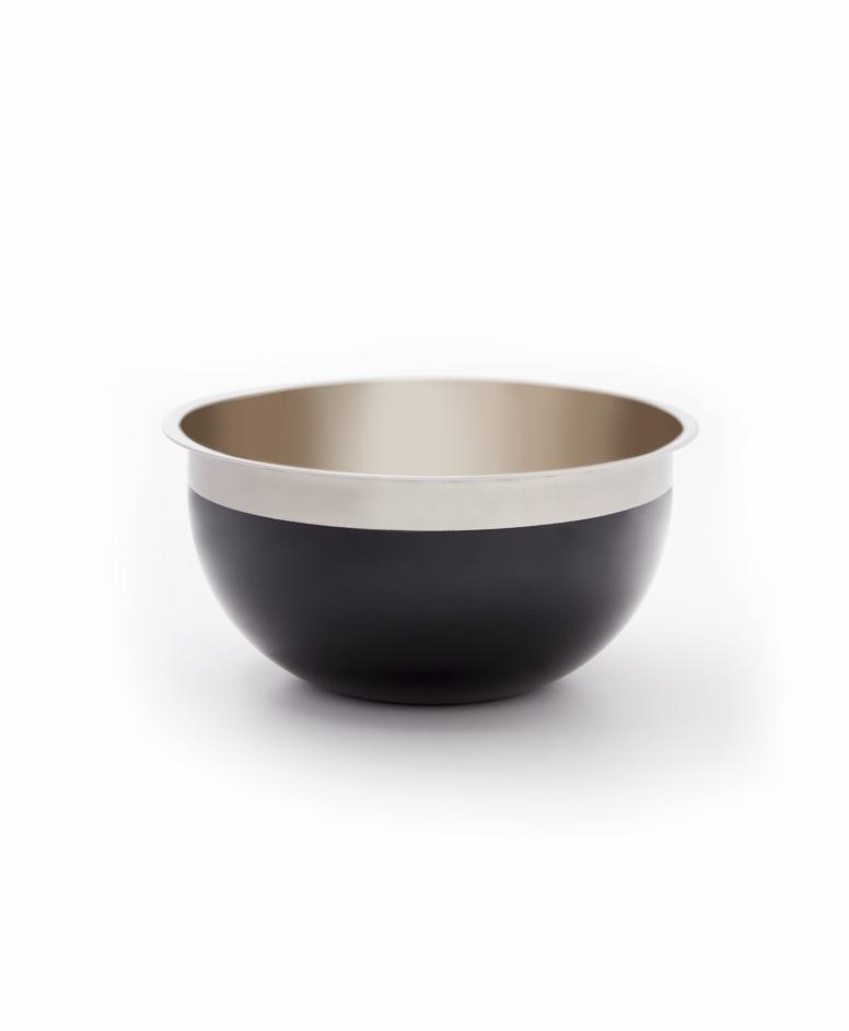 Miska, srebrno-czarna, ø 20 cm