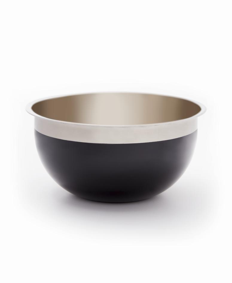 Miska, srebrno-czarna, ø 24 cm