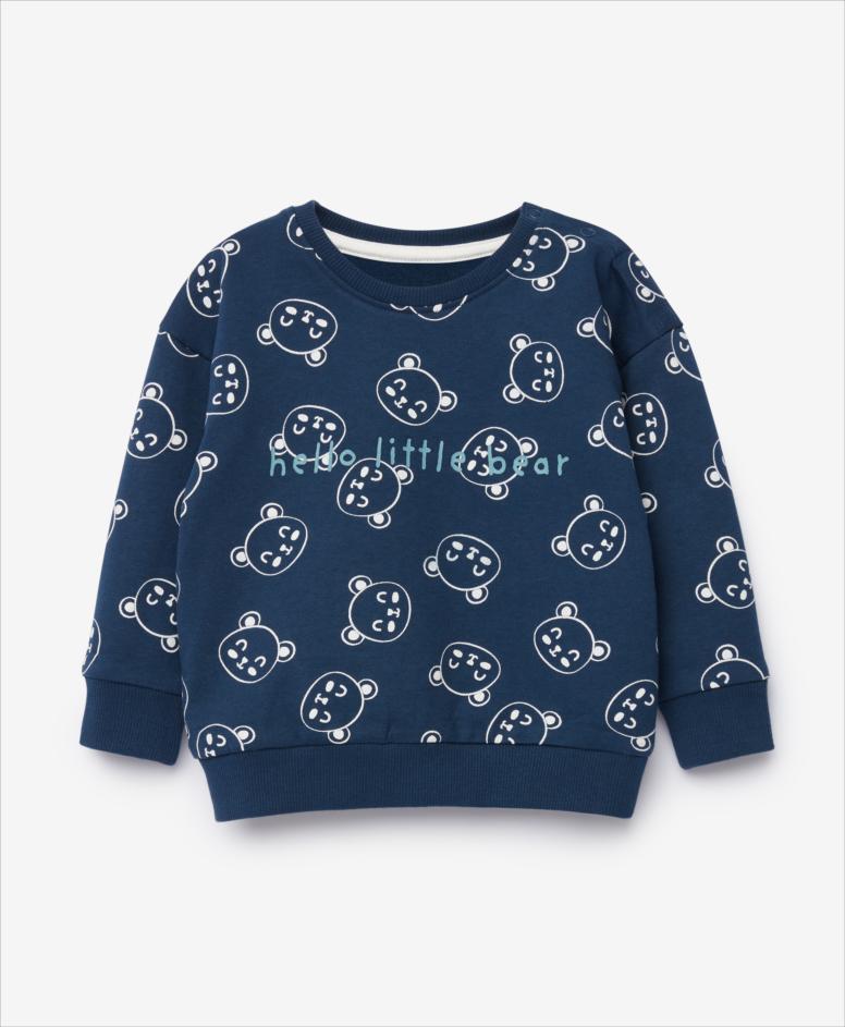 Bluza niemowlęca, chłopięca, granatowa, rozmiary: 74-98 cm