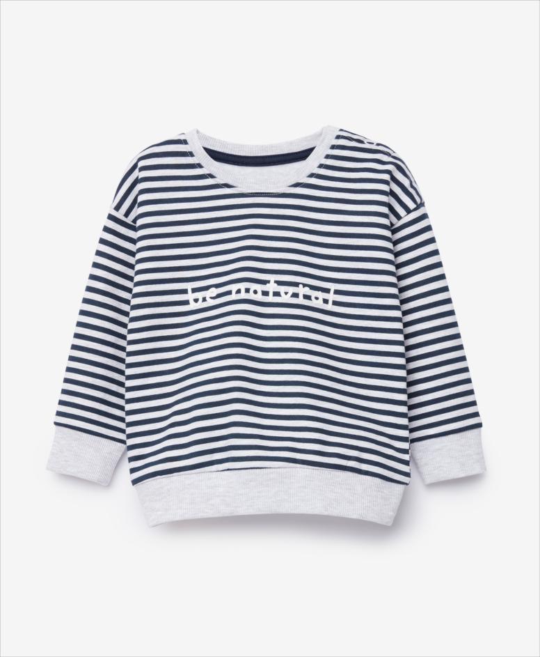 Bluza niemowlęca, chłopięca, biała, granatowy, rozmiary: 74-98 cm
