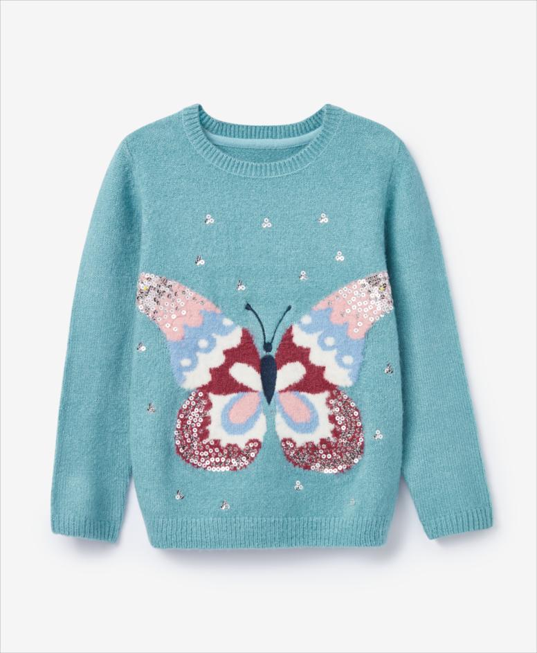 Sweter dziewczęcy, turkusowa, rozmiary: 104-134 cm