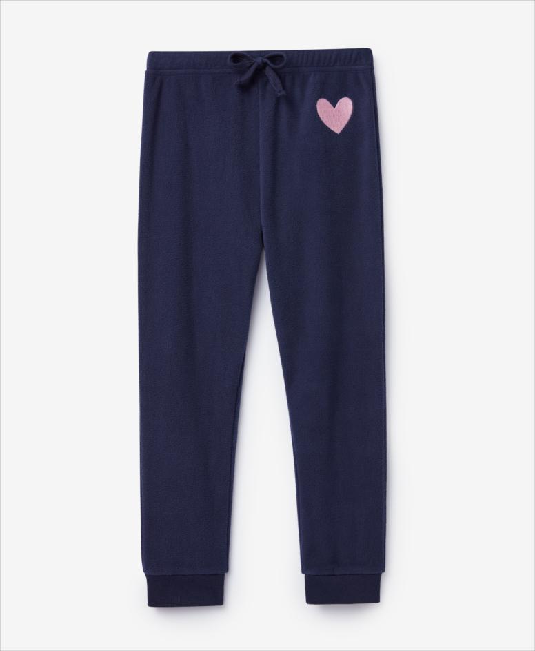 Spodnie dziewczęce, granatowe, rozmiary: 104-134 cm