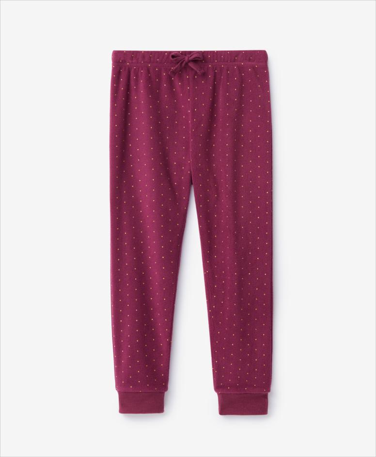 Spodnie dziewczęce, bordowe, rozmiary: 104-134 cm