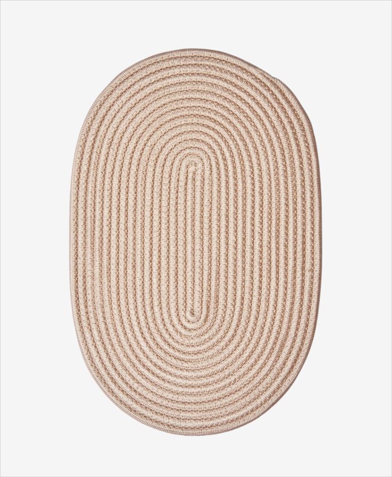 Mata na stół owalna, beżowa, wymiary: 45 x 30 cm