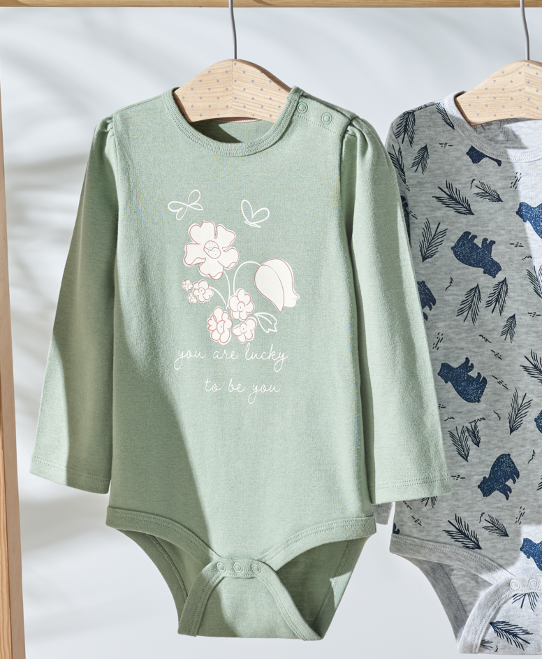 """""""Body 100% bawełny organicznej niemowlęce, dziewczęce, zielone, rozmiary: 62-92 cm"""""""