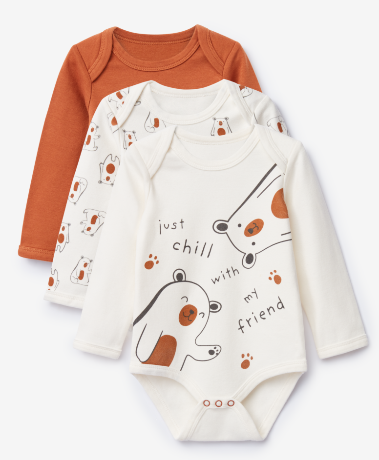 3-pak body 100% bawełny niemowlęce, chłopięce, rozmiary: 62-92 cm