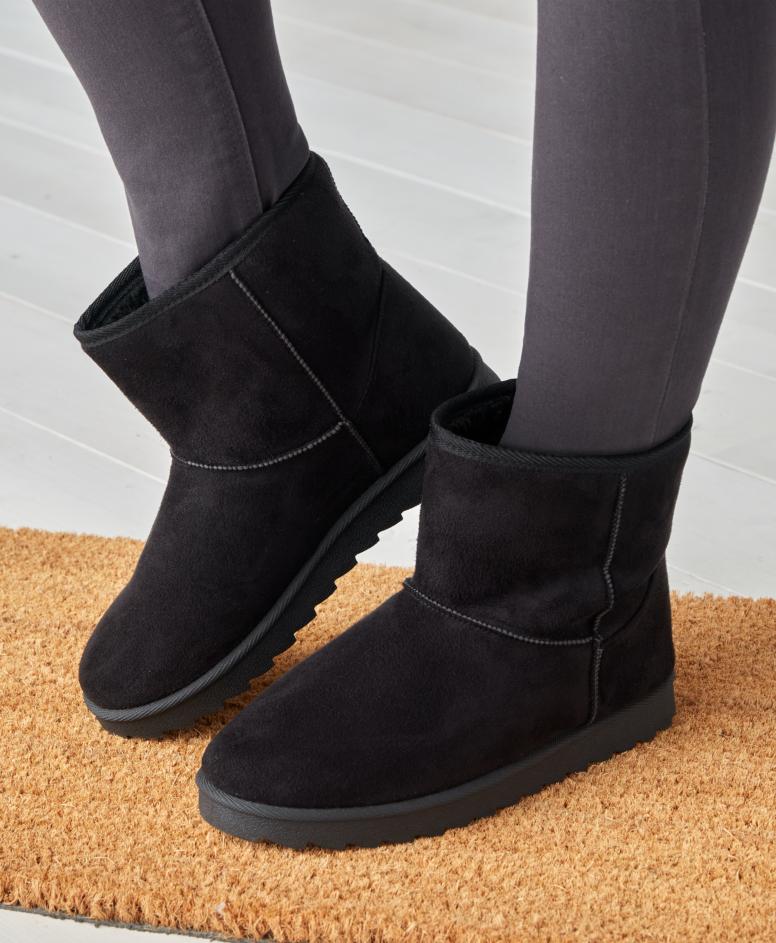 Buty ocieplane damskie, czarne, rozmiary: 36-41