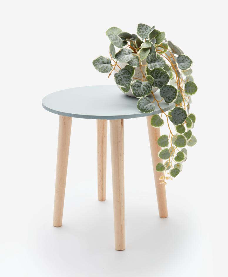 Stolik kawowy okrągły, kolor turkusowy, ø 35 cm, wys. 35,5 cm