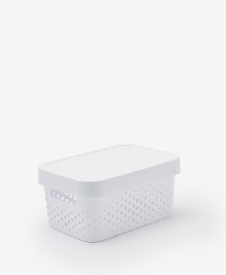 Pojemnik z pokrywą, kolor biały, 4,5 l