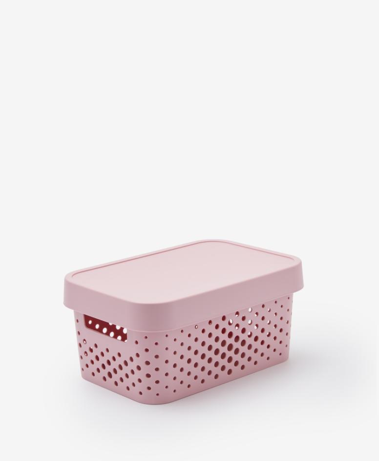 Pojemnik z pokrywą, kolor różowy, 4,5 l