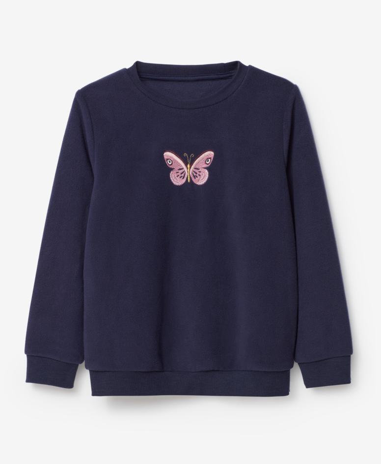 Bluza dziewczęca, kolor czarny, rozmiary: 104-134 cm