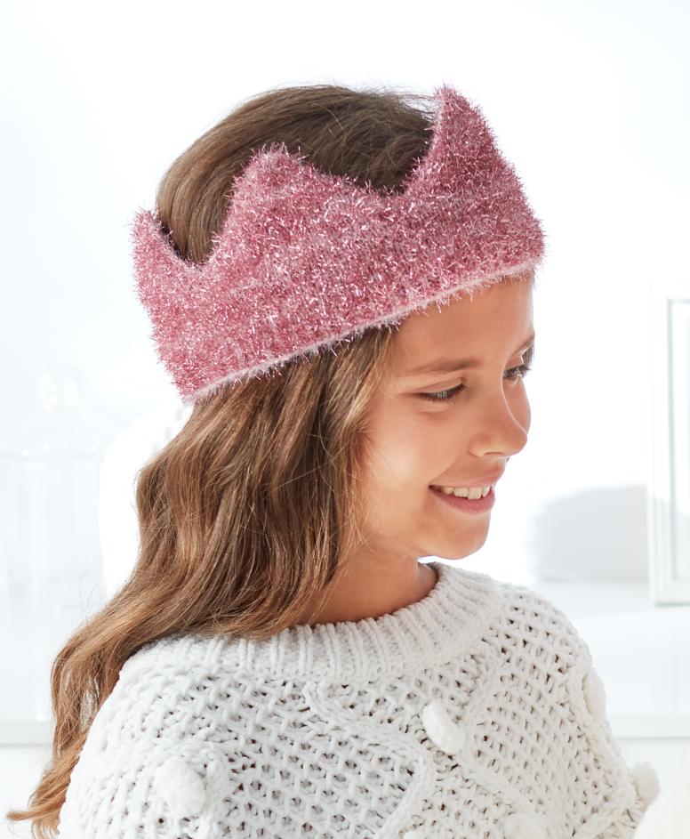 Opaska dziewczęca, kolor różowy, obwód: 52 cm lub 54 cm