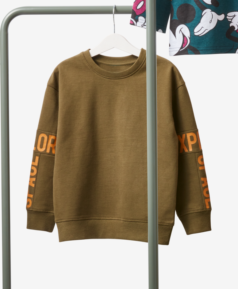 Bluza 100% bawełny chłopięca, kolor khaki, rozmiary: 104-134 cm