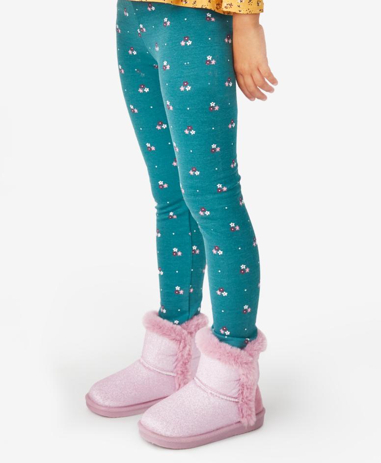 Legginsy dziewczęce, kolor turkusowy, rozmiary: 104-134 cm