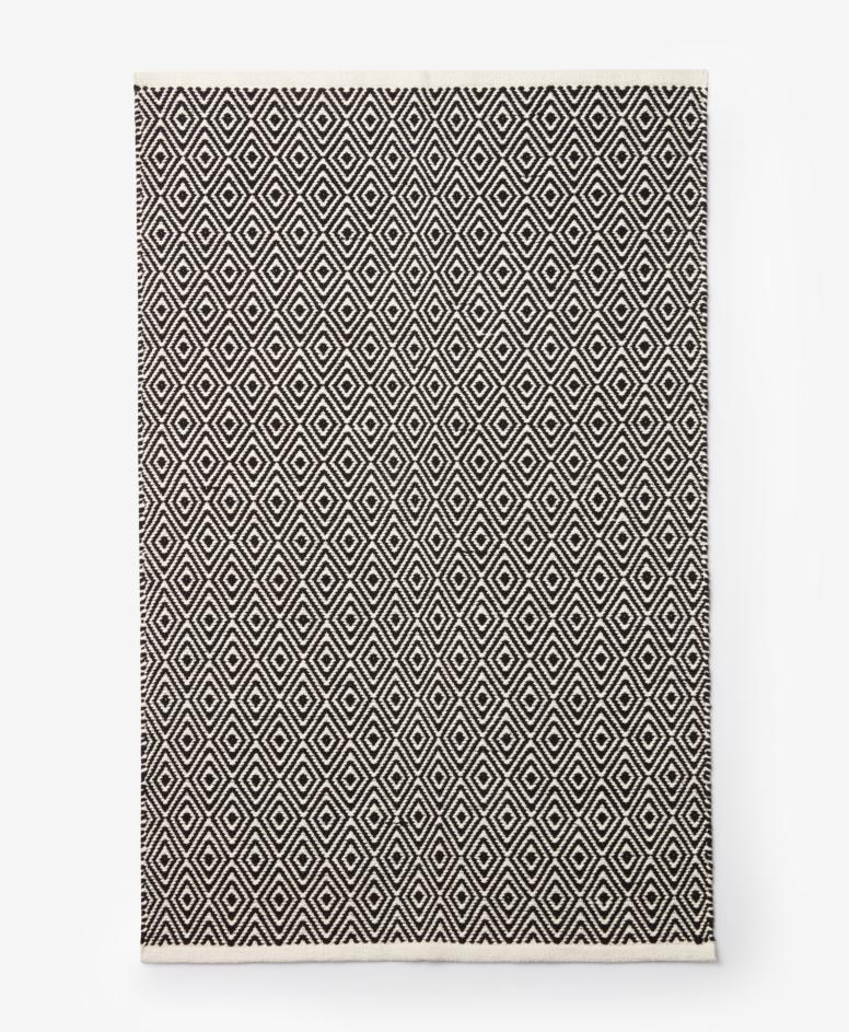 Dywan 100% bawełny, szary, biały, wymiary: 80 x 120 cm