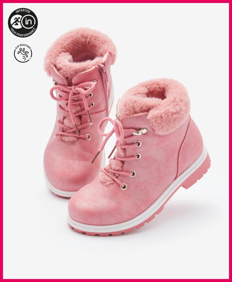 Buty dziewczęce, kolor różowy, rozmiary: 22-31
