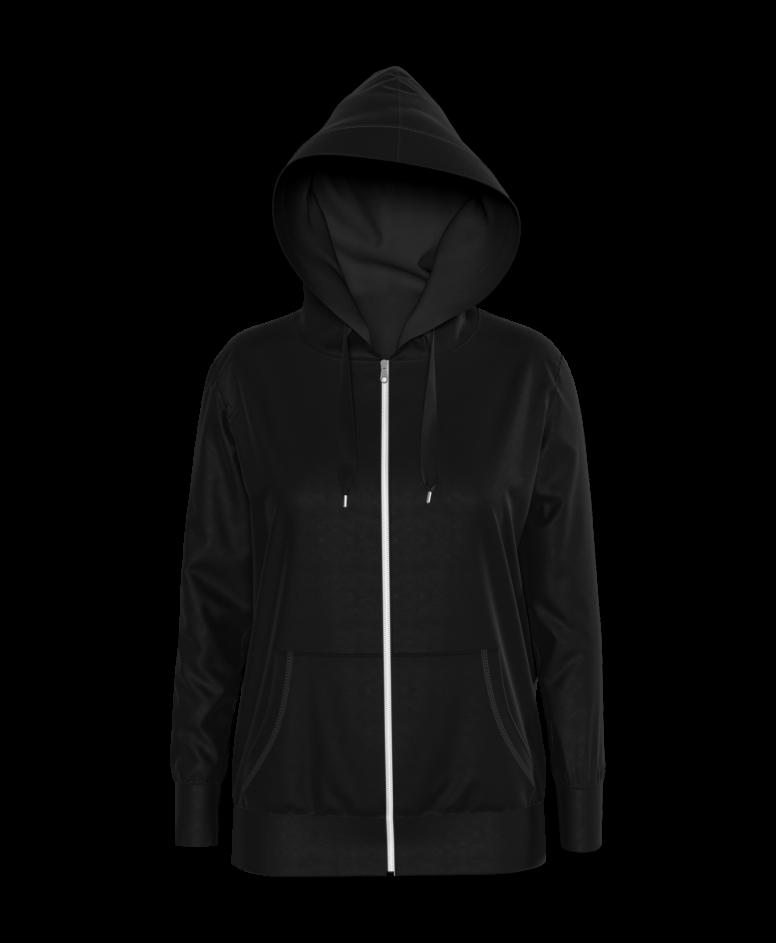 Bluza z kapturem damska, kolor czarny, rozmiary: S-XXL