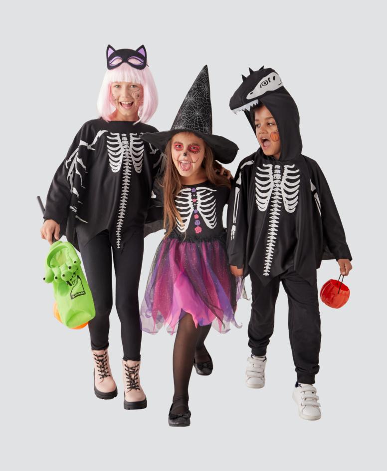Kostium na Halloween dziecięcy, kolor czarny, rozmiary: 3-8 lat