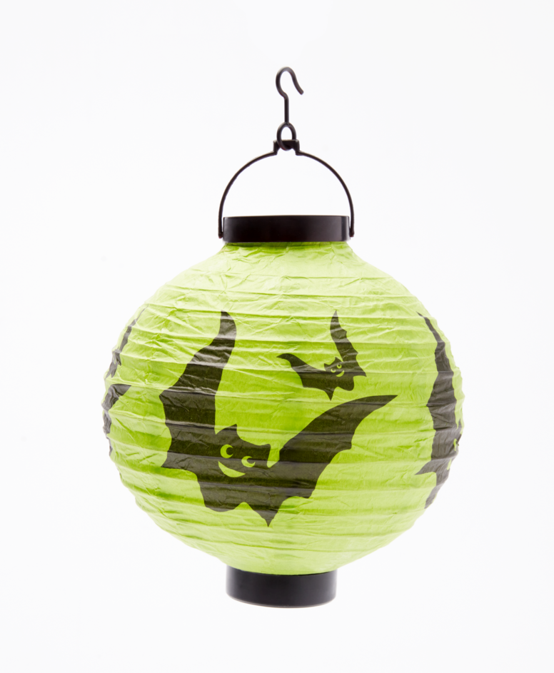 Lampion na Halloween papierowy, kolor zielony, ø 20,5 cm