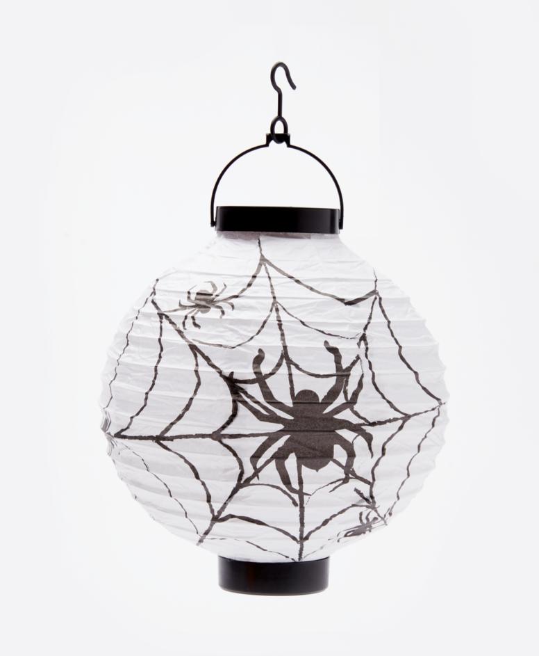 Lampion na Halloween papierowy, kolor biały, ø 20,5 cm