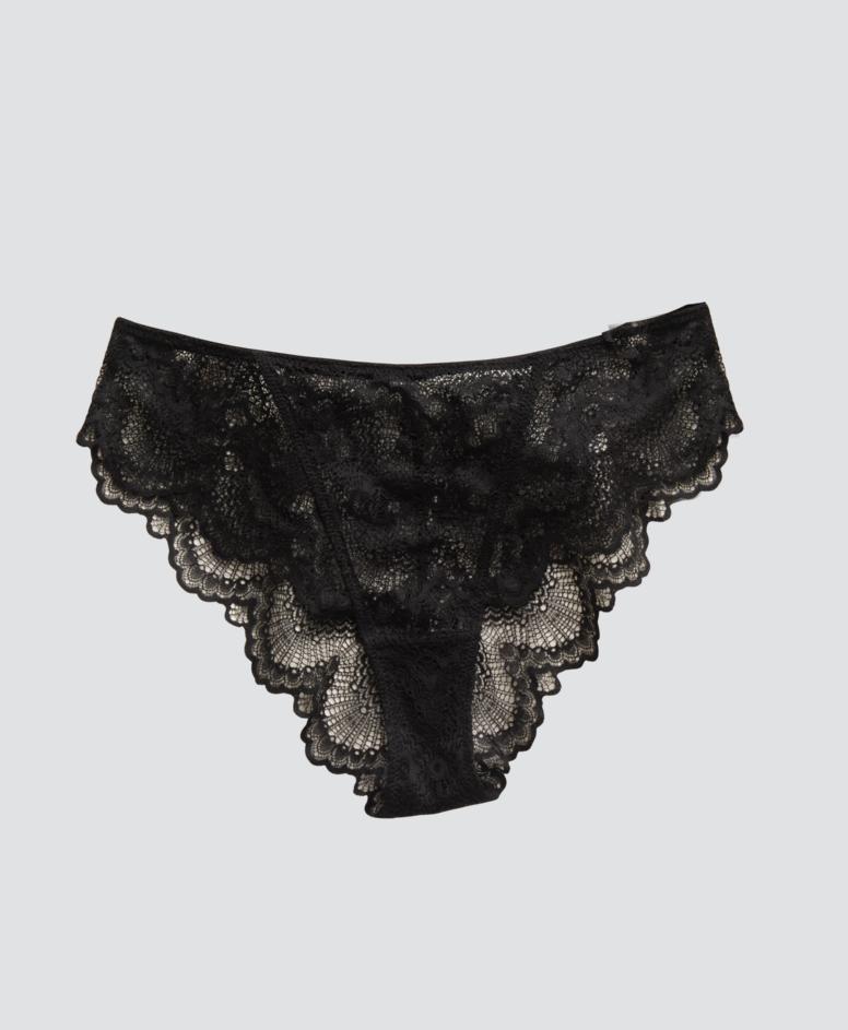 Figi z falbanką, kolor czarny, rozmiary: S-XXL