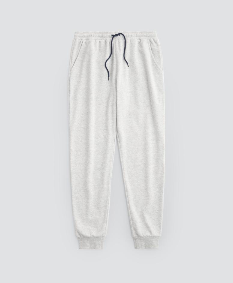 Spodnie dresowe z wiązaniem, kolor jasny szary, rozmiary: M-XXL