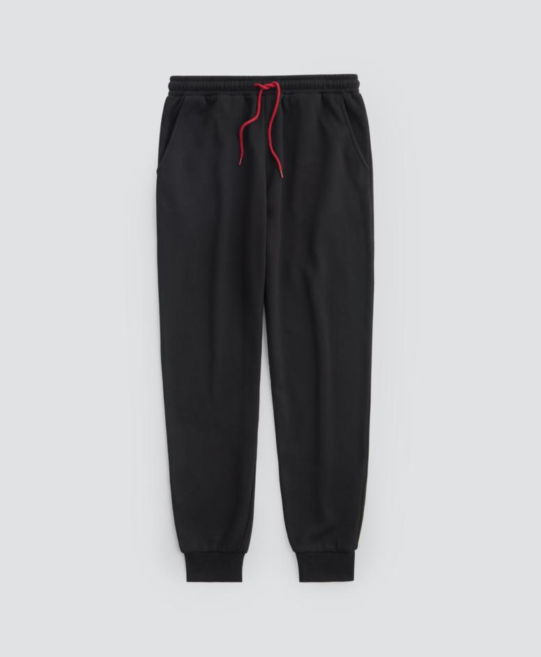 Spodnie dresowe z wiązaniem, kolor czarny, rozmiary: M-XXL