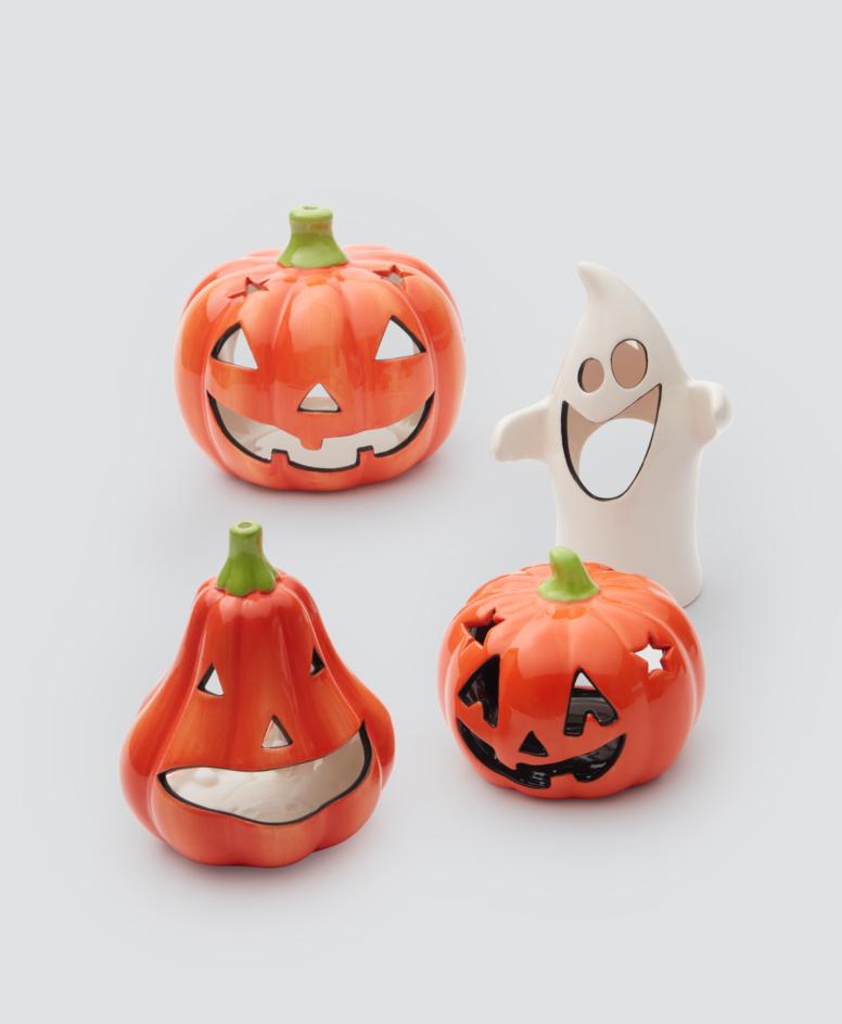 Dekoracje na Halloween na t-light, kolor pomarańczowy