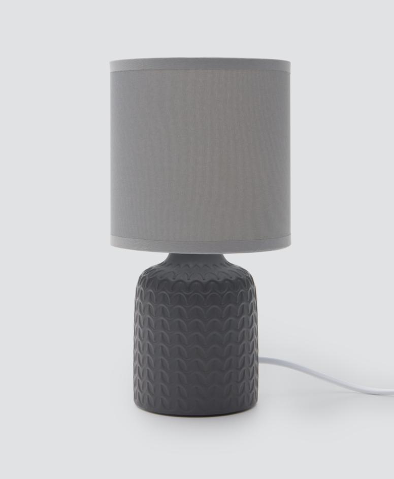 Lampa stołowa ceramiczna, kolor szary, ø 12,5 cm, wys. 23 cm