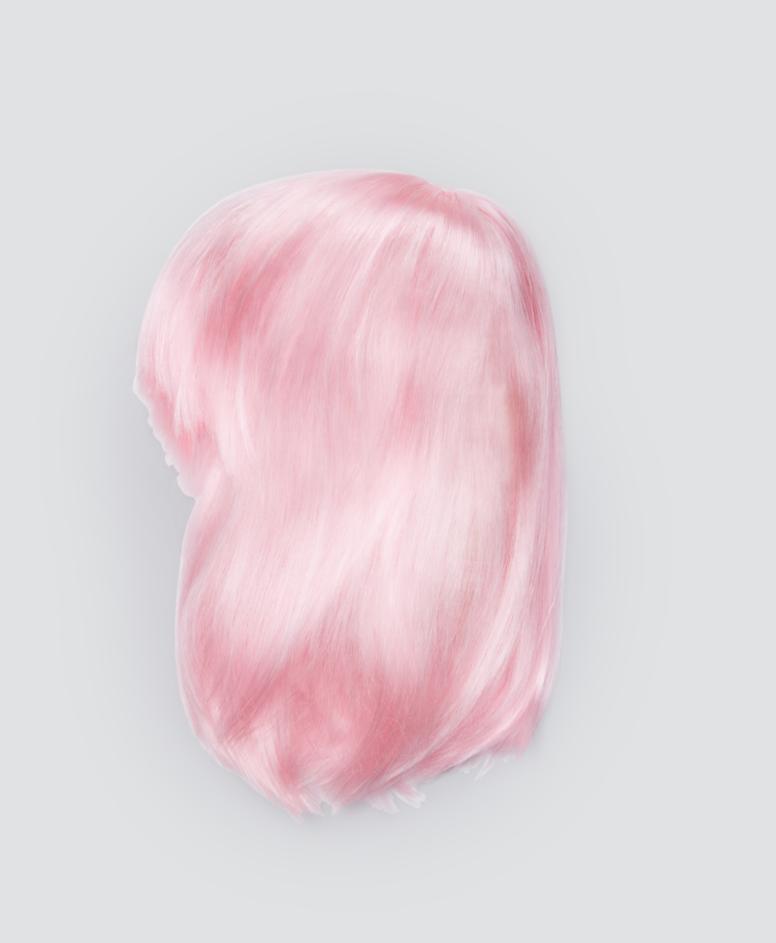 Peruka dziecięca, kolor różowy