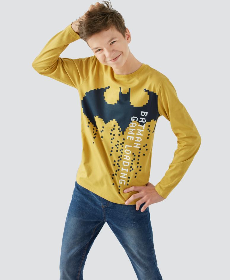 Koszulka chłopięca, kolor zółty, rozmiary: 134-170 cm