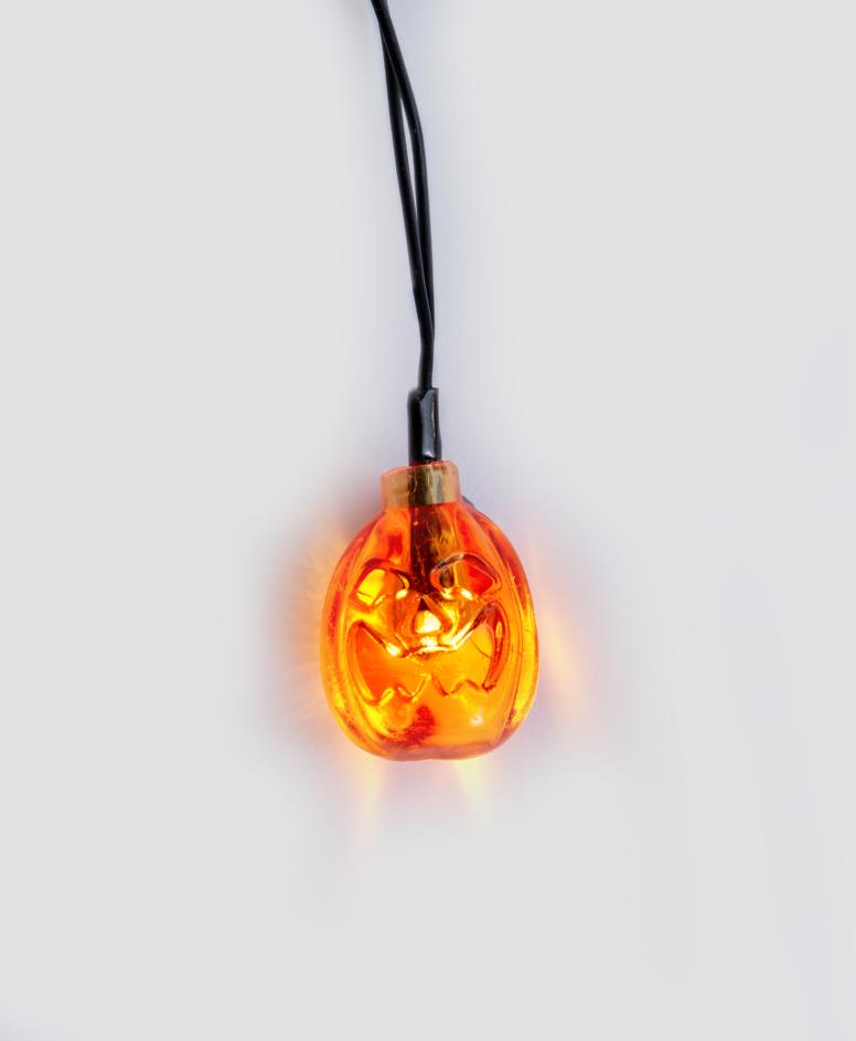 Miniłańcuch LED na Halloween 10 lampek, kolor pomarańczowy, dł. 165 cm