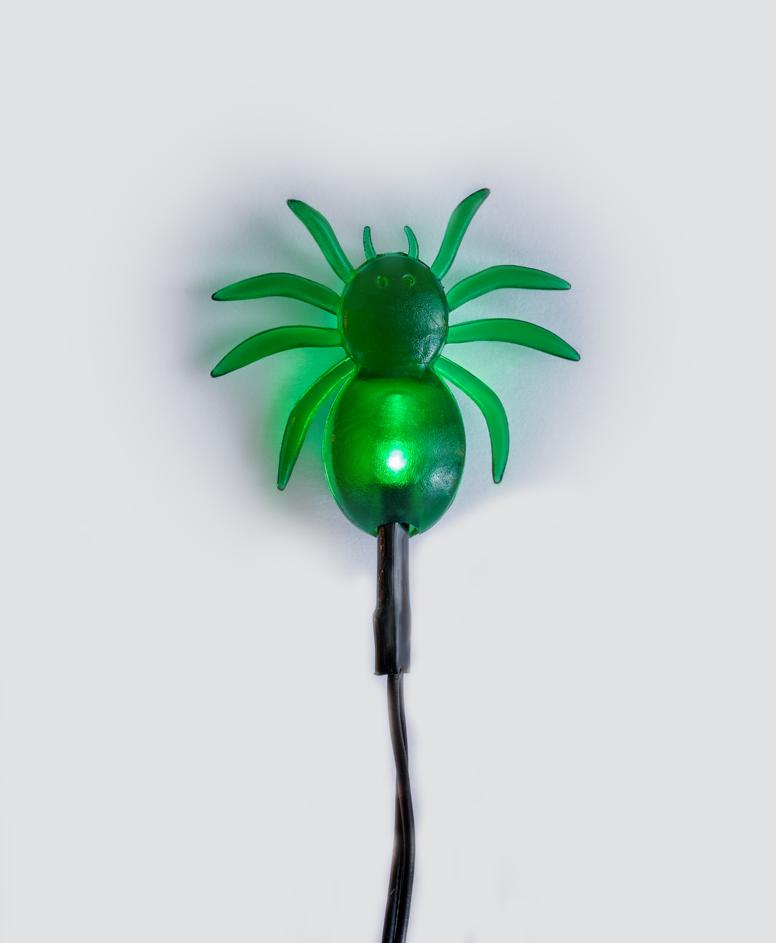 Miniłańcuch LED na Halloween 10 lampek, kolor zielony, dł. 165 cm