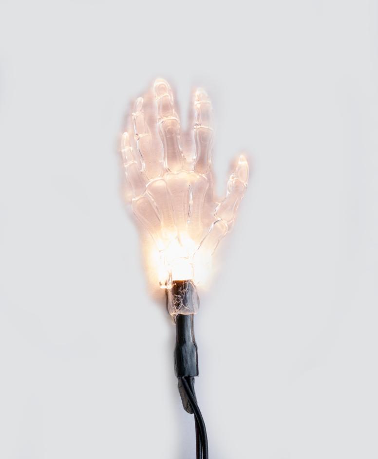 Miniłańcuch LED na Halloween 10 lampek, kolor biały, dł. 165 cm