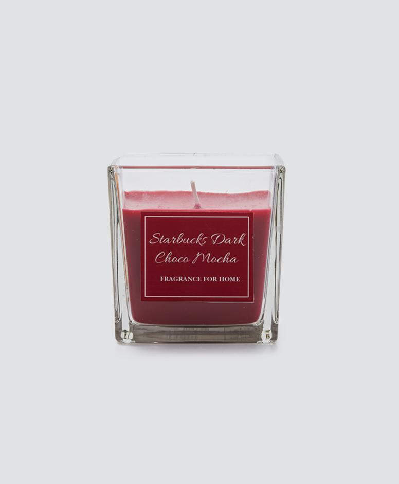 Świeca zapachowa w pojemniku, kolor czerwony, 8 x 8 x 8 cm