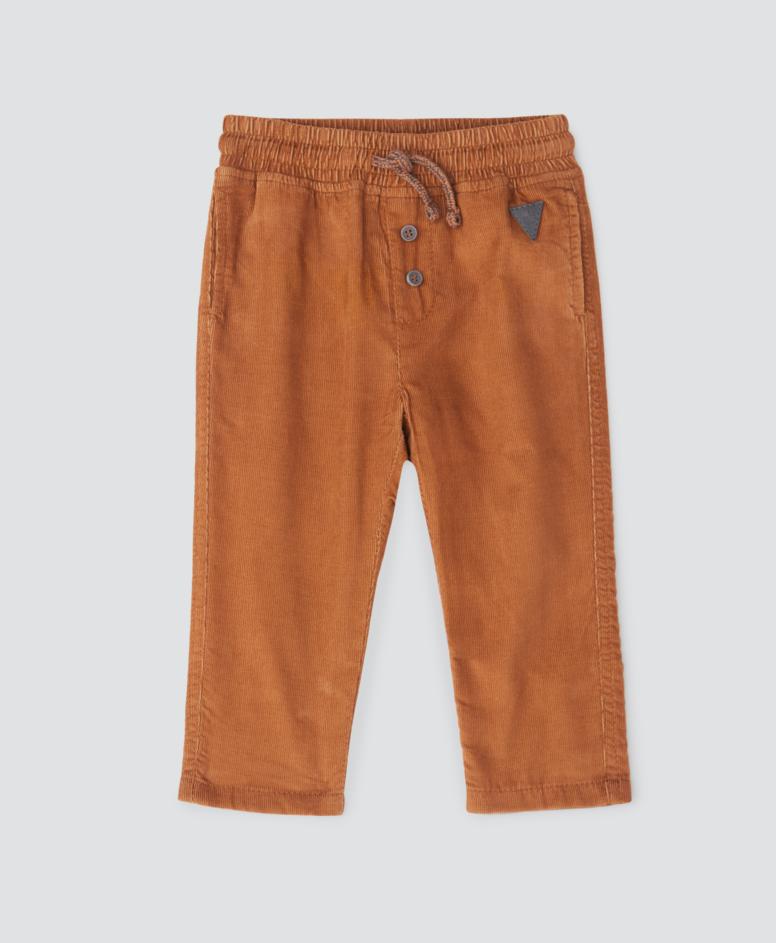 Spodnie niemowlęce, chłopięce, kolor miodowy, rozmiary: 74-98 cm