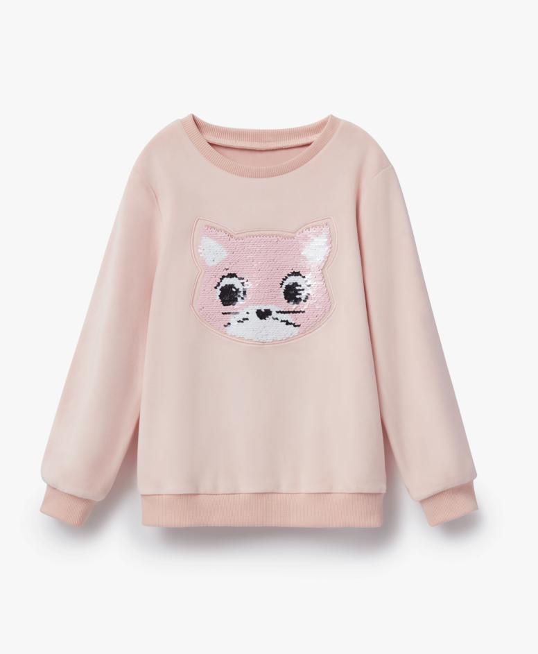 Bluza dziewczęca, kolor różowy, rozmiary: 104-134 cm