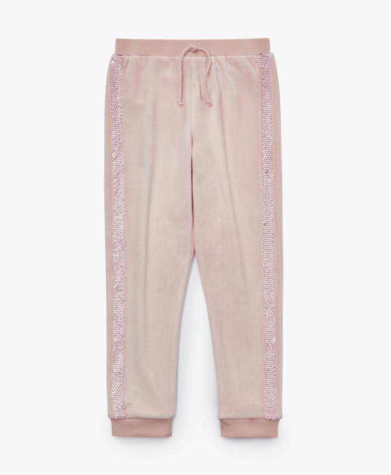 Spodnie dresowe dziewczęce, kolor różowy, rozmiary: 104-134 cm