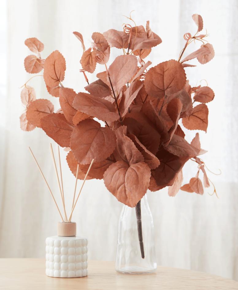 Ukrasni veštački cvet u dva dezena, boje jeseni, dimenzije: 70x20x10 cm 50x30x15 cm